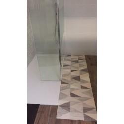Store enrouleur occultant gris 90x180 cm
