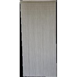 Rideau de porte Perles Bois et Bambou 90x200cm Marron clair (acajou)