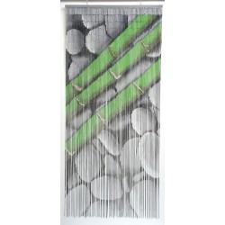 Rideau de porte Perles Bois et Bambou 90x200cm